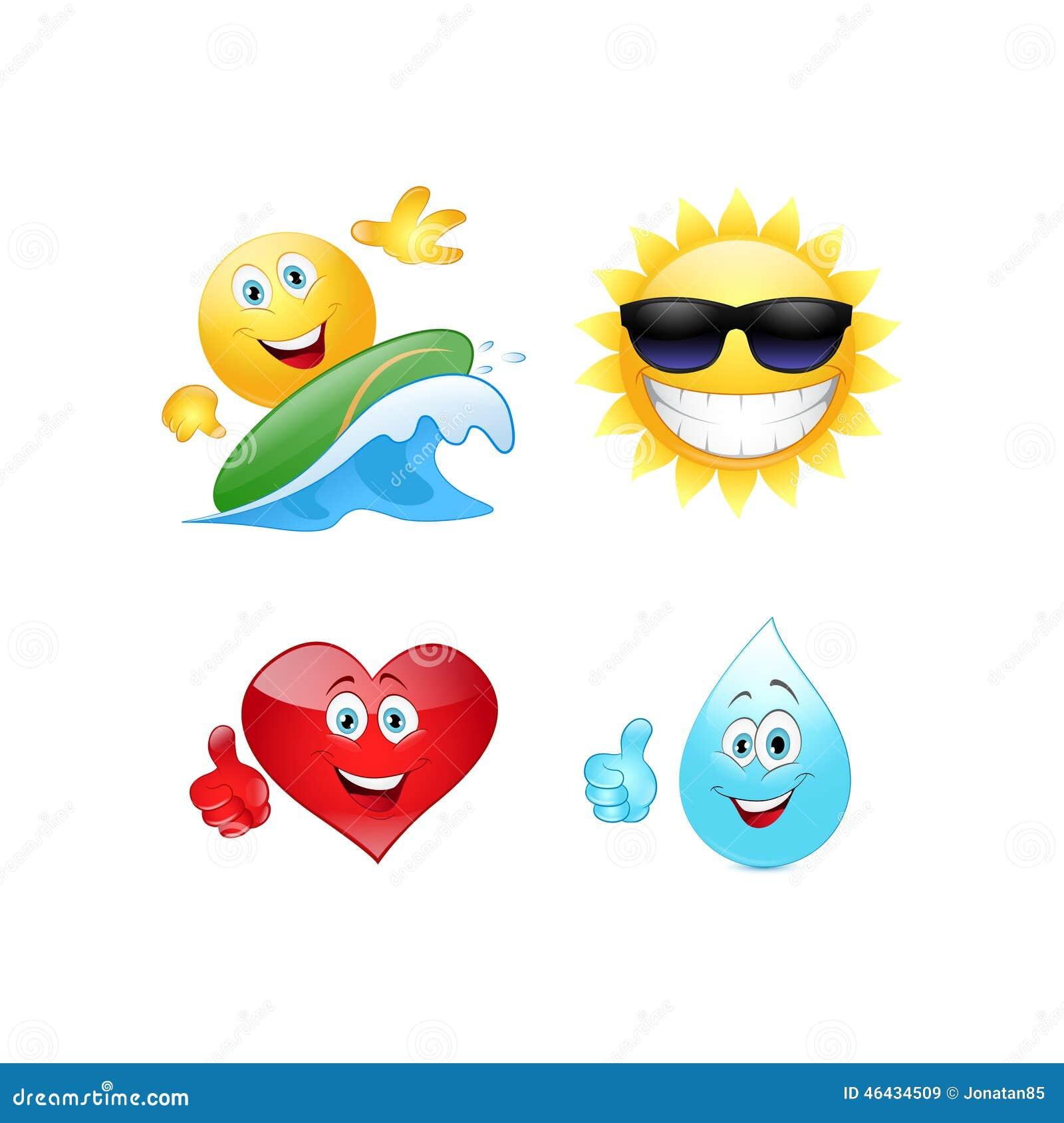 Summer Emoticon Stock Vector Image 46434509
