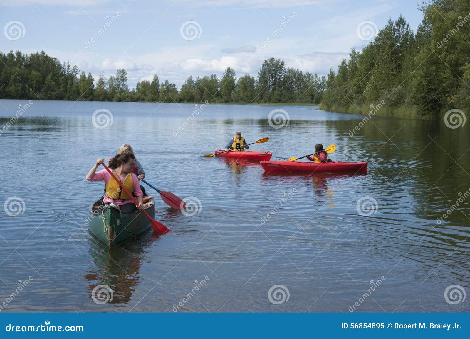Download Summer Family Fun Day Reflections Lake Alaska Editorial Image - Image of alaskans, flats: 56854895
