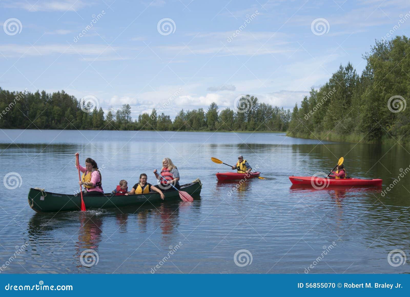 Download Summer Family Fun Day Reflections Lake Alaska Editorial Image - Image of alaskans, flats: 56855070