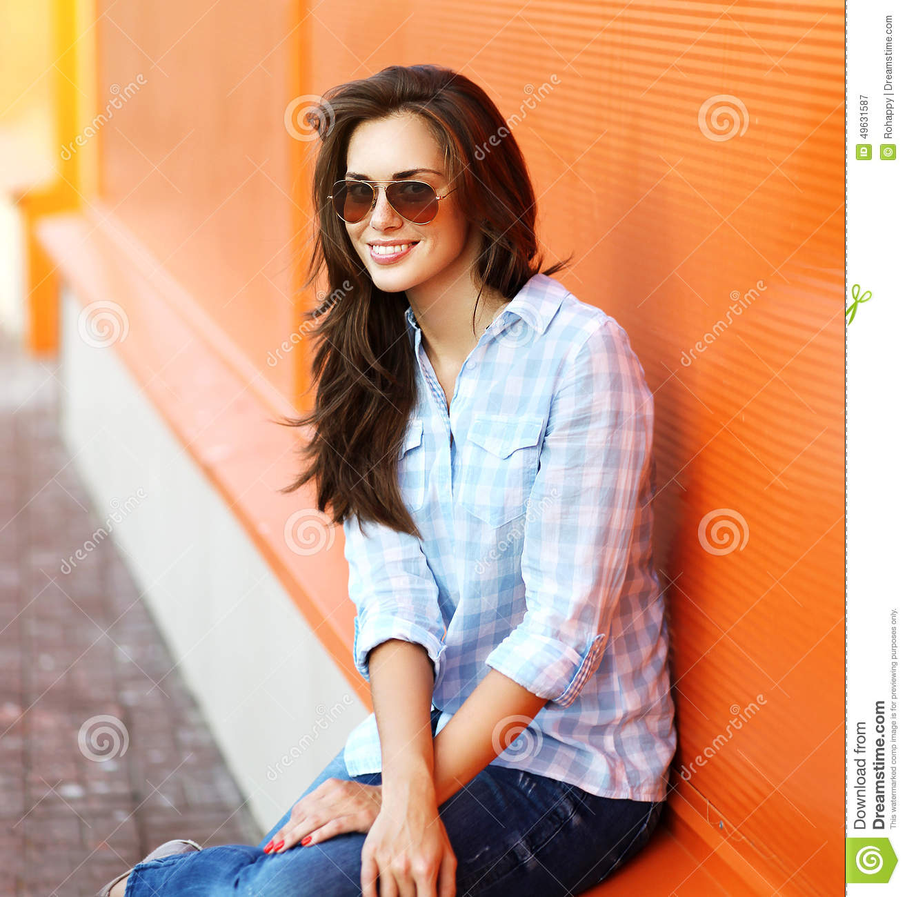 Summer, fashion and people concept - portrait modern woman