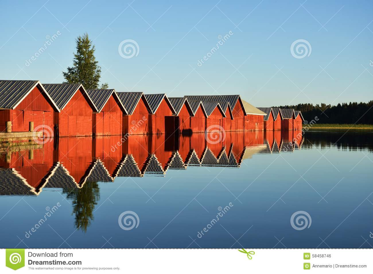 Download Summer in Finland stock photo. Image of finnish, cottages - 58458746