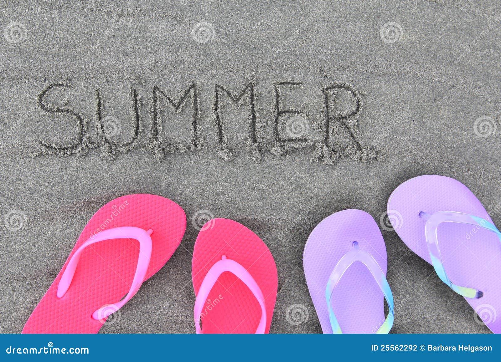 Summer Flip Flops Stock Photography - Image: 25562292