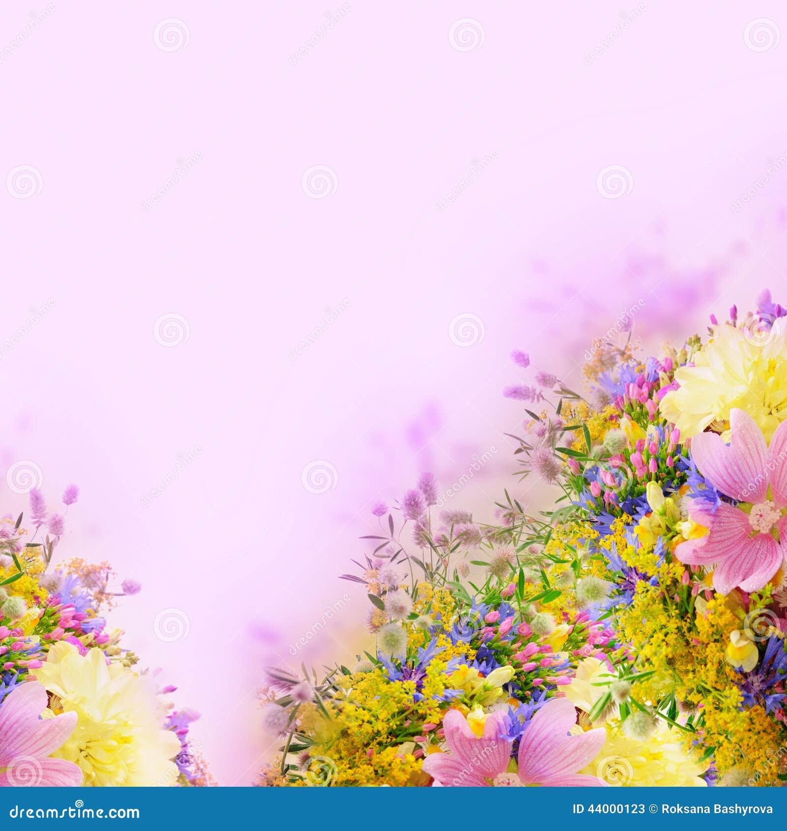 Bokeh Flowers Wedding: Summer Flowers Stock Photo