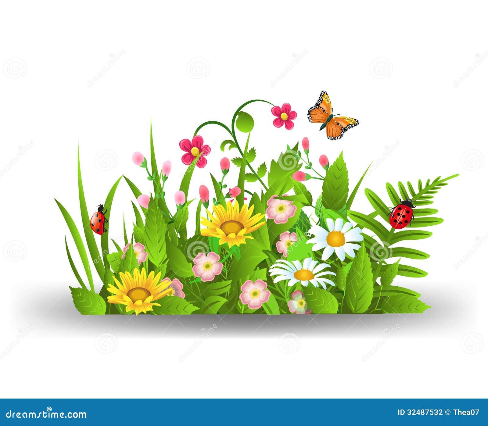 Summer flowers stock photo. Image of bush, nature, green ...