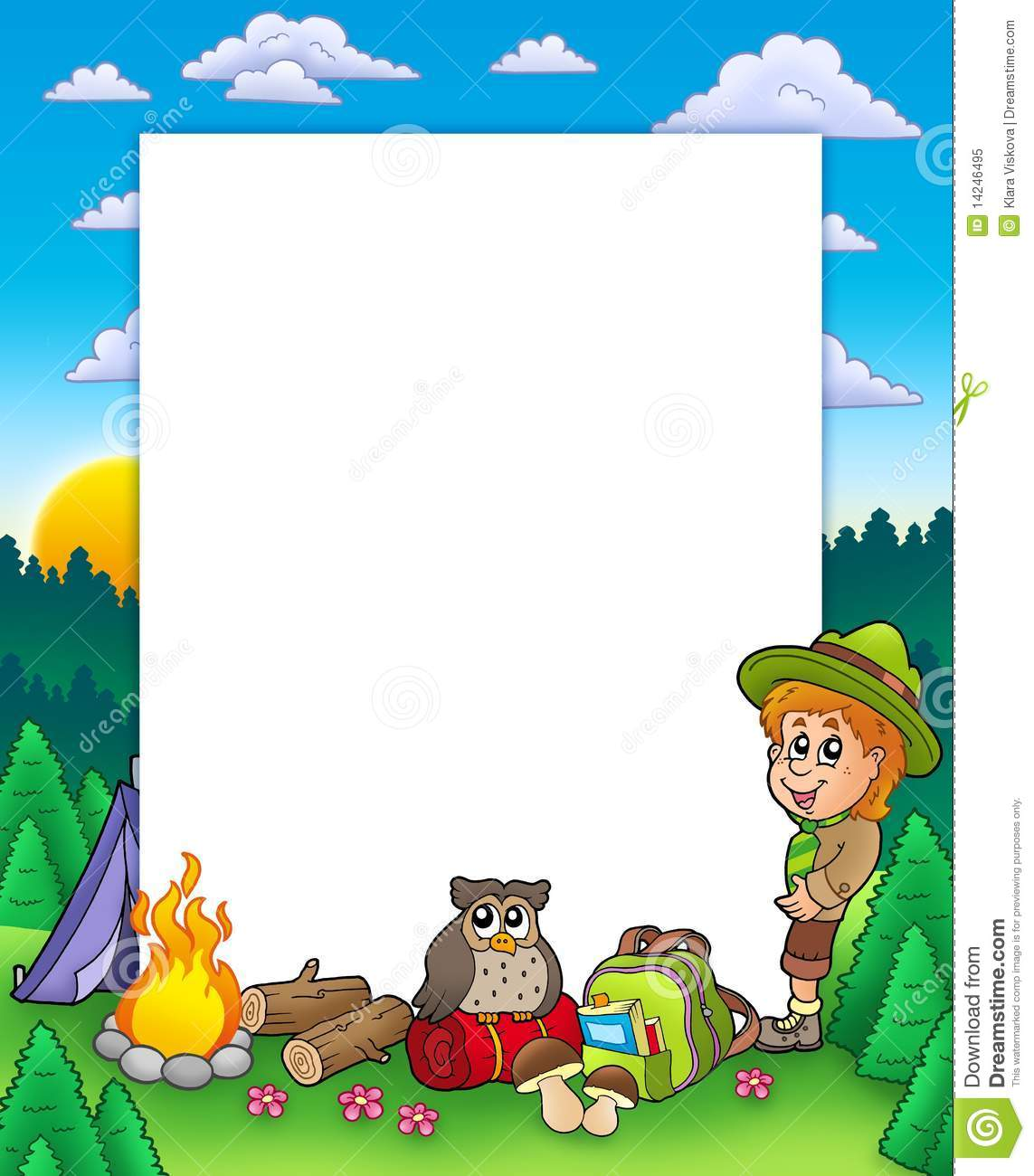 summer frame with boy scout royalty free stock photo boy scout clip art klondike boyscout clip art events