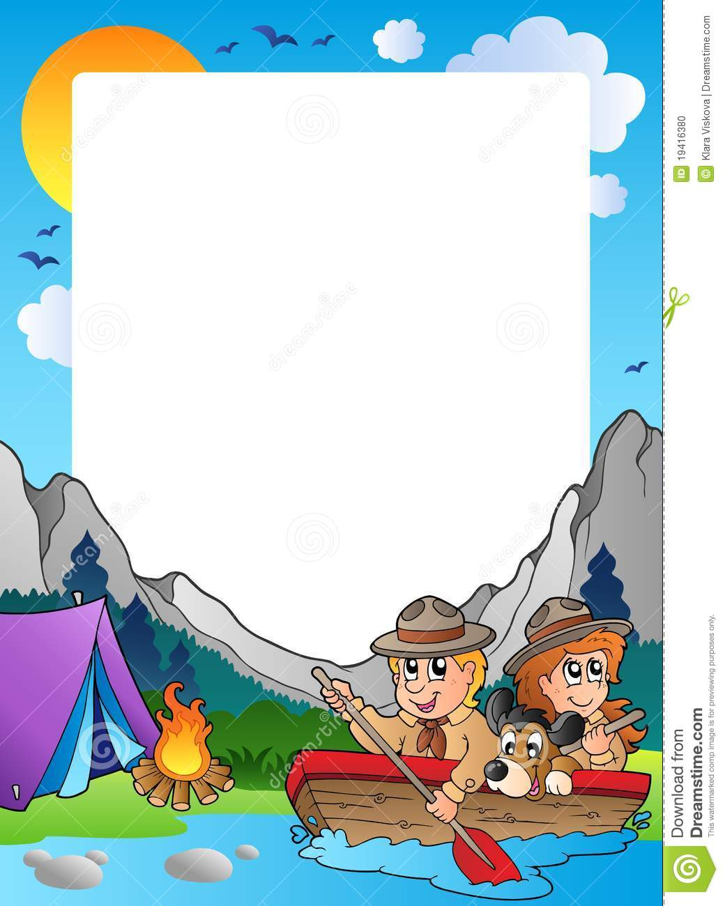 Summer Frame With Scout Theme 4 Stock Vector ...