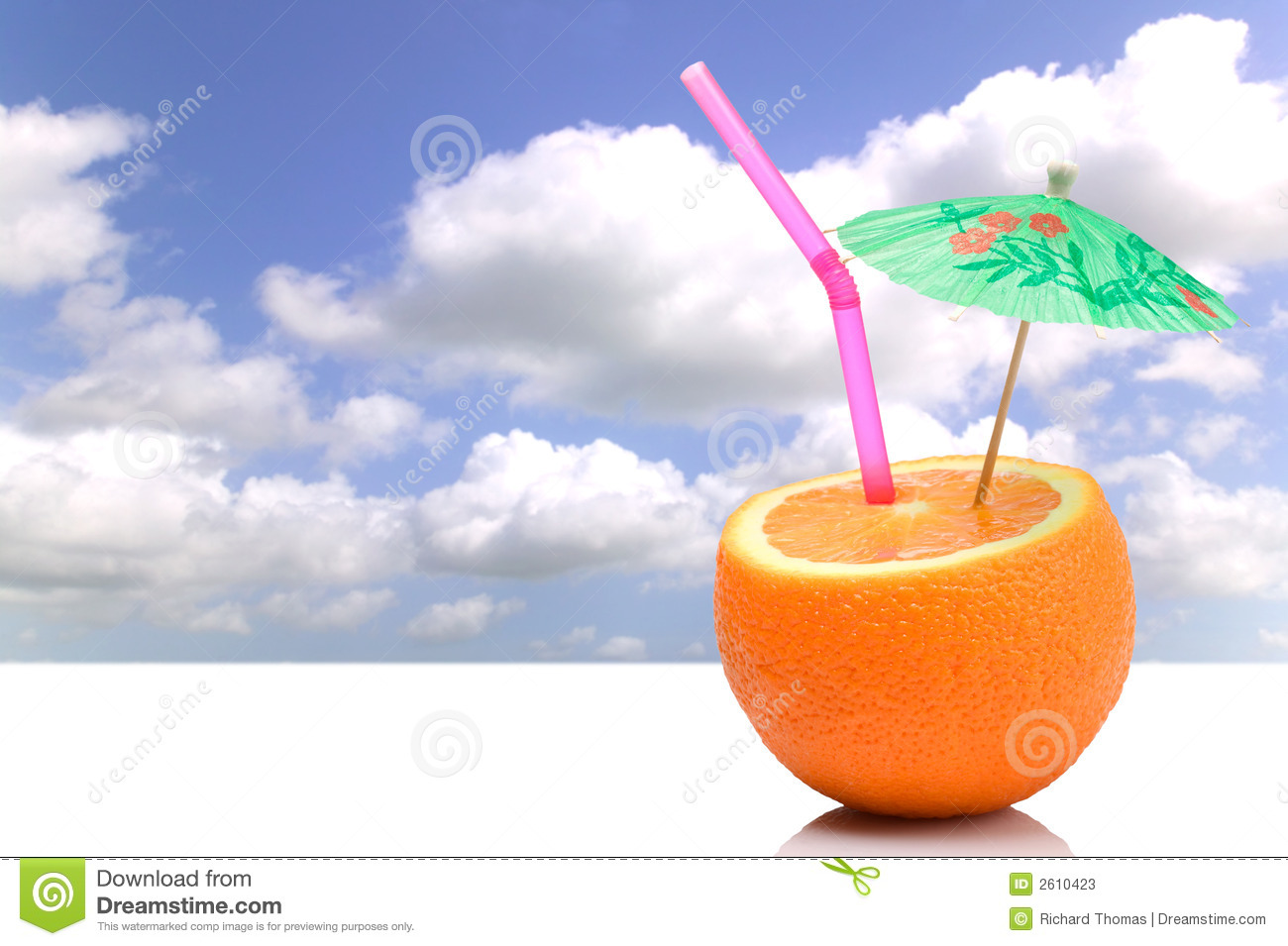 Fresh Fruit Cocktail At The Beach Stock Photo - Image: 30958460