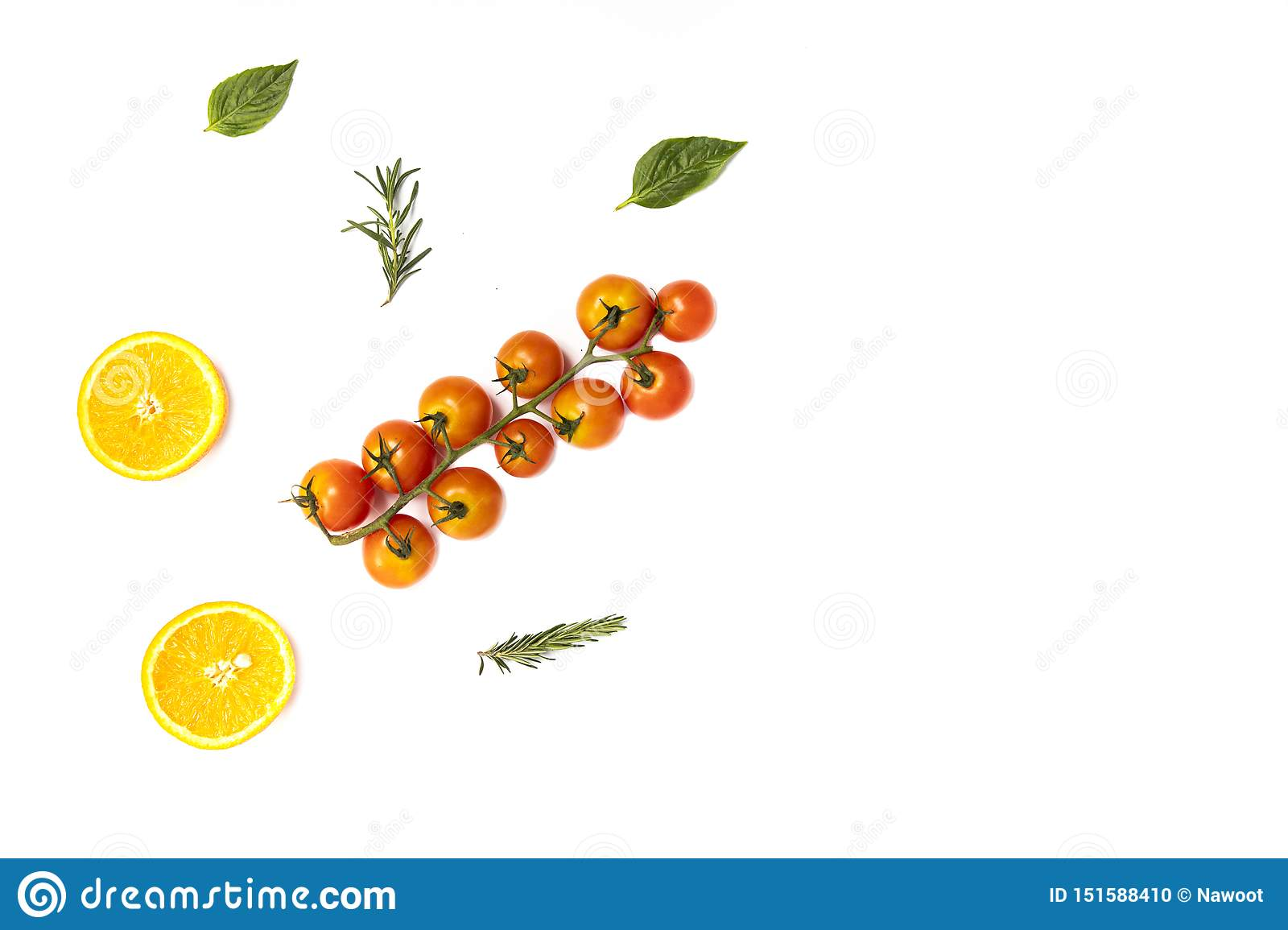 summer fruits and vegetables pattern