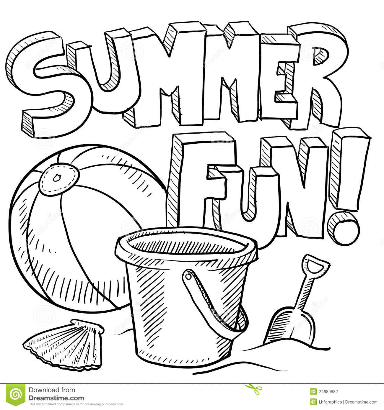 sand bucket coloring page download