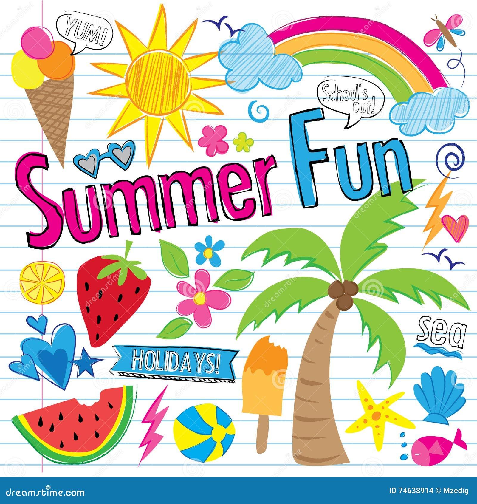 Amazing Summer: Summer. Vector Illustration.Summer Park With Green Grass