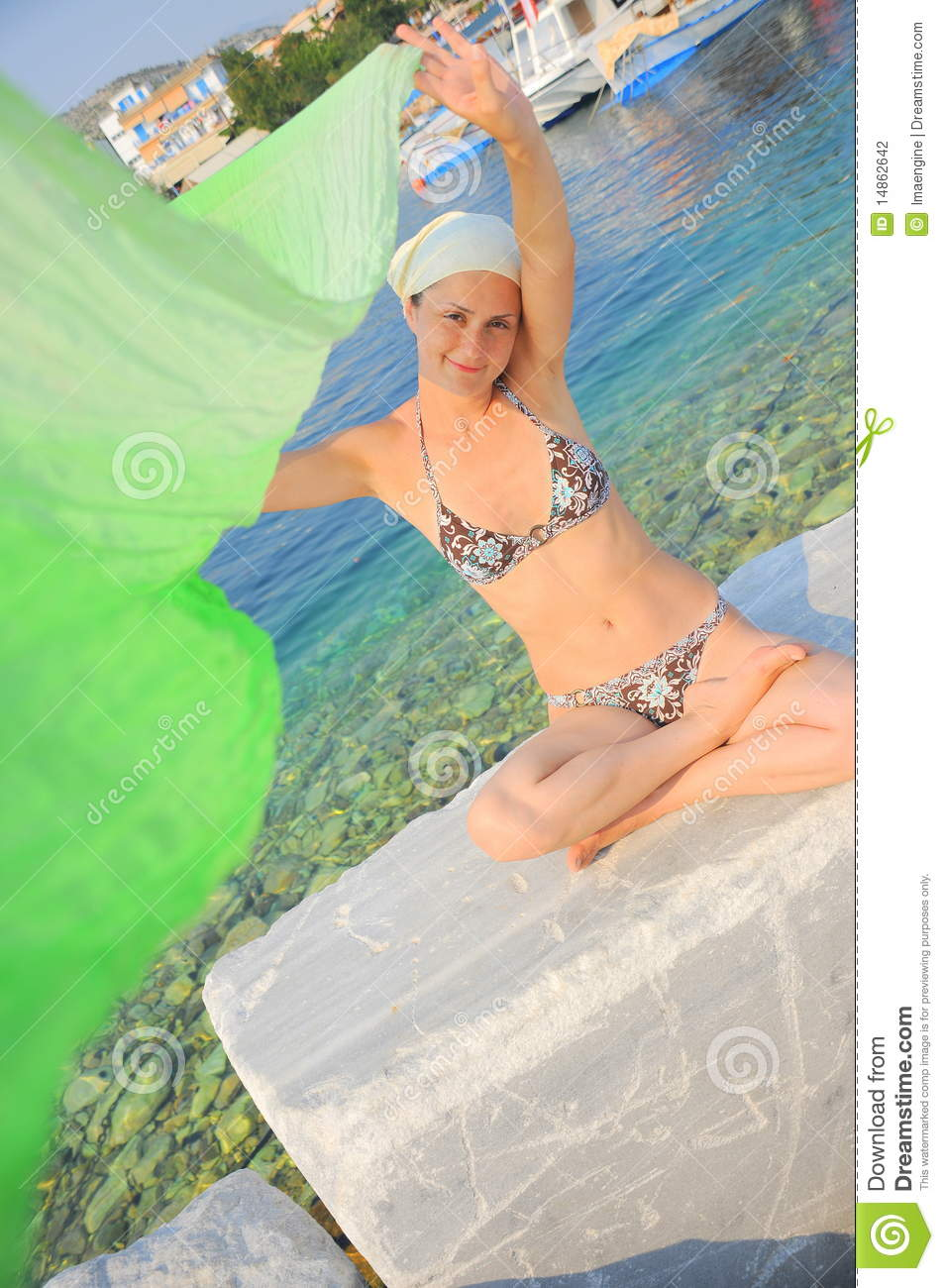 Summer fun and relaxation (woman portrait)