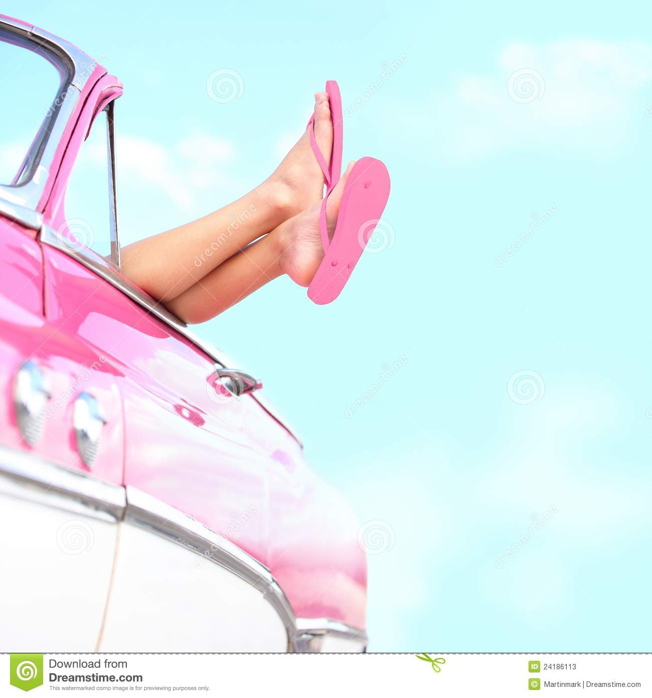 Download Summer fun vintage car stock image. Image of drive, adult - 24186113