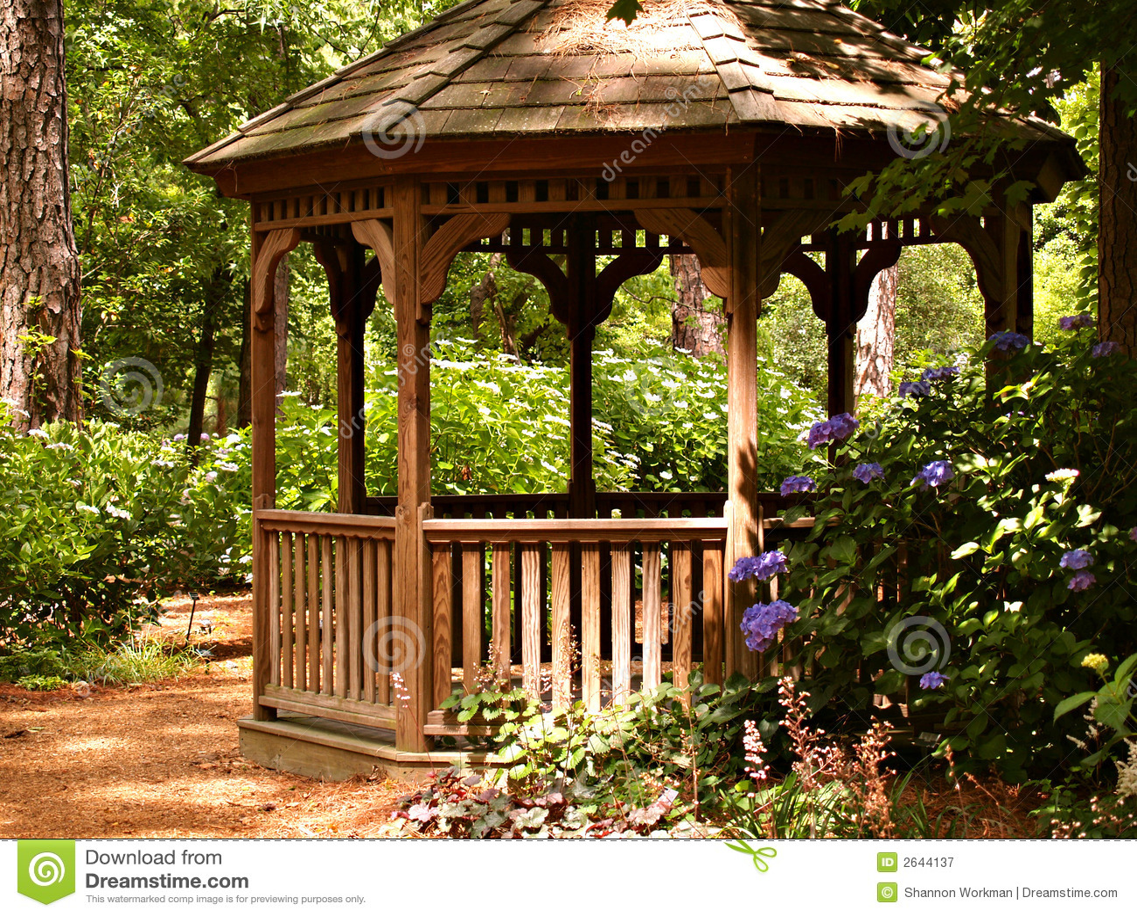 Summer Gazebo Stock Image Image Of Garden Outdoor