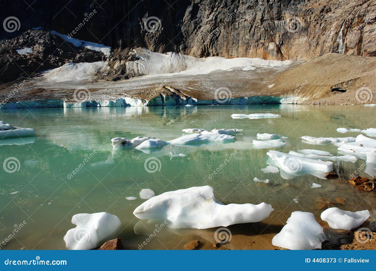 Summer glacier lake