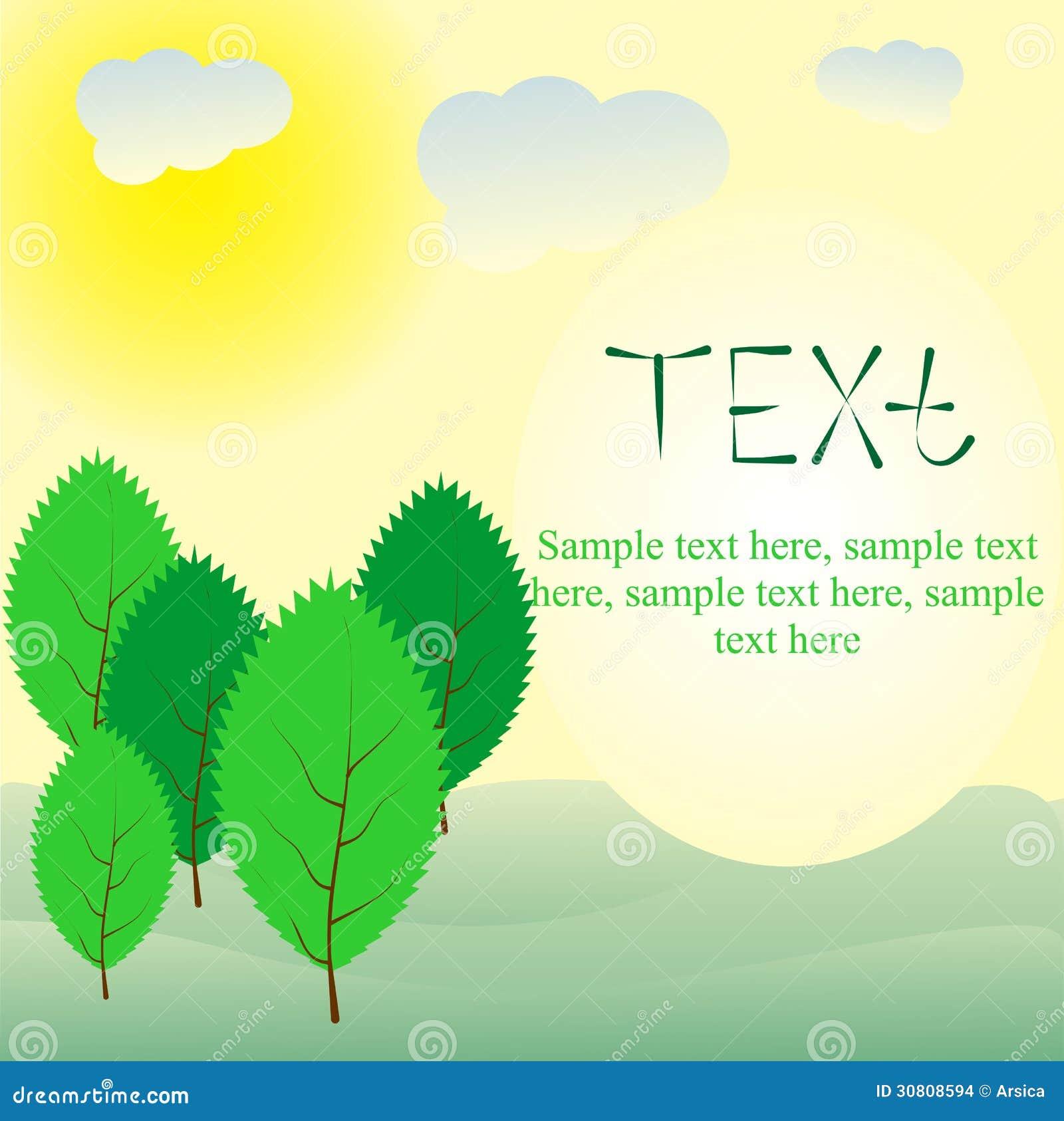 Summer Greeting Card. Vector Illustrations ...