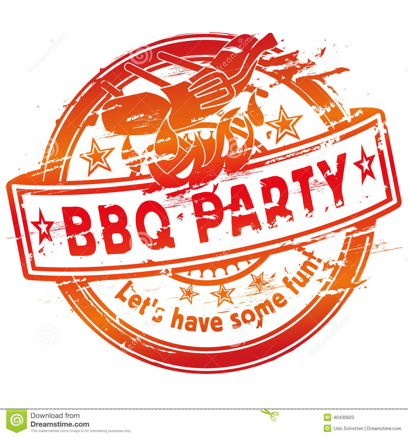 Summer Grilling And Barbecue Party Stock Photo Image