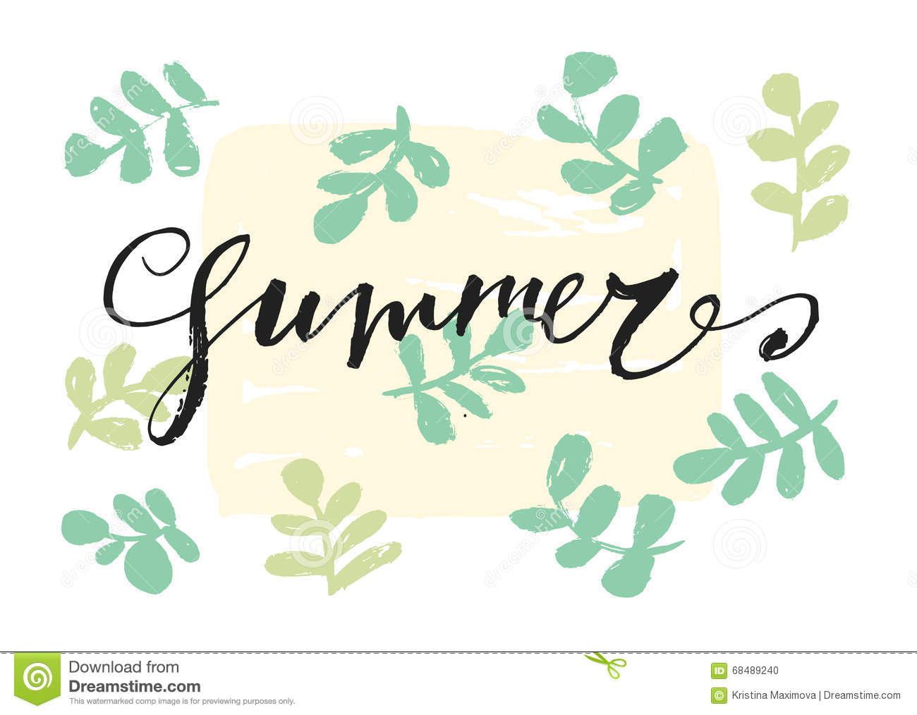 Summer hand drawn letters card stock vector illustration of summer hand drawn letters card m4hsunfo