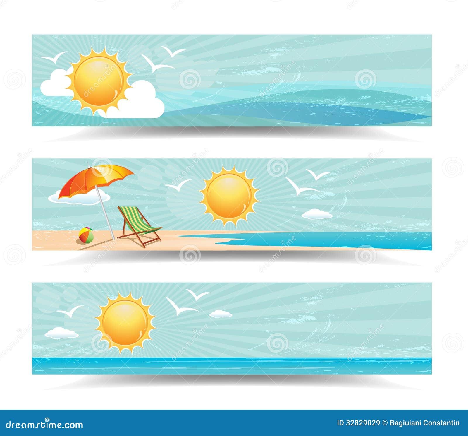 Summer Banner Clip Art Free