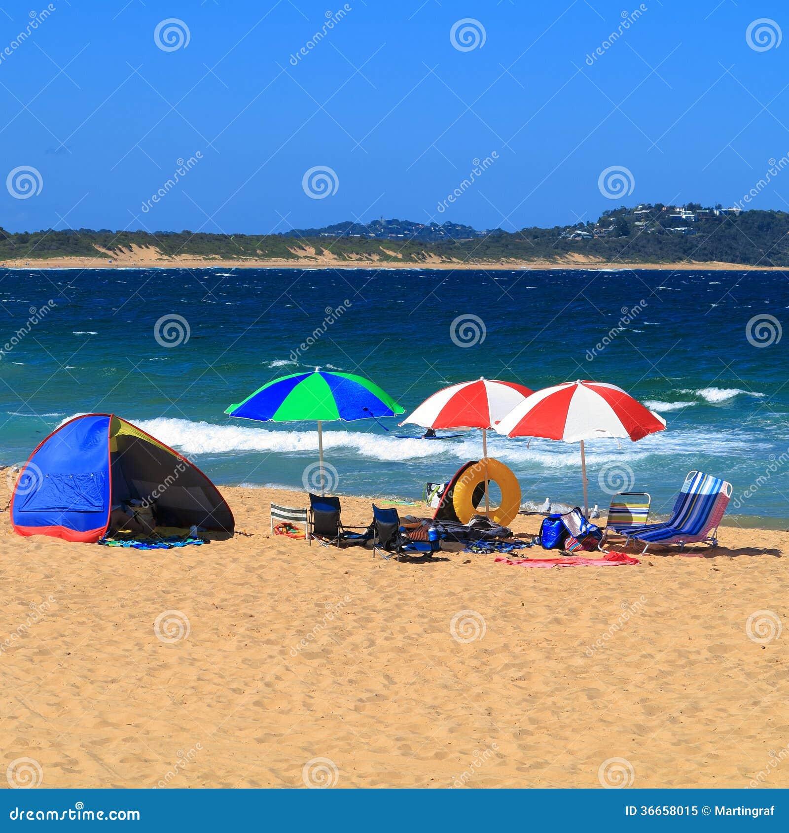 Holiday beach camping