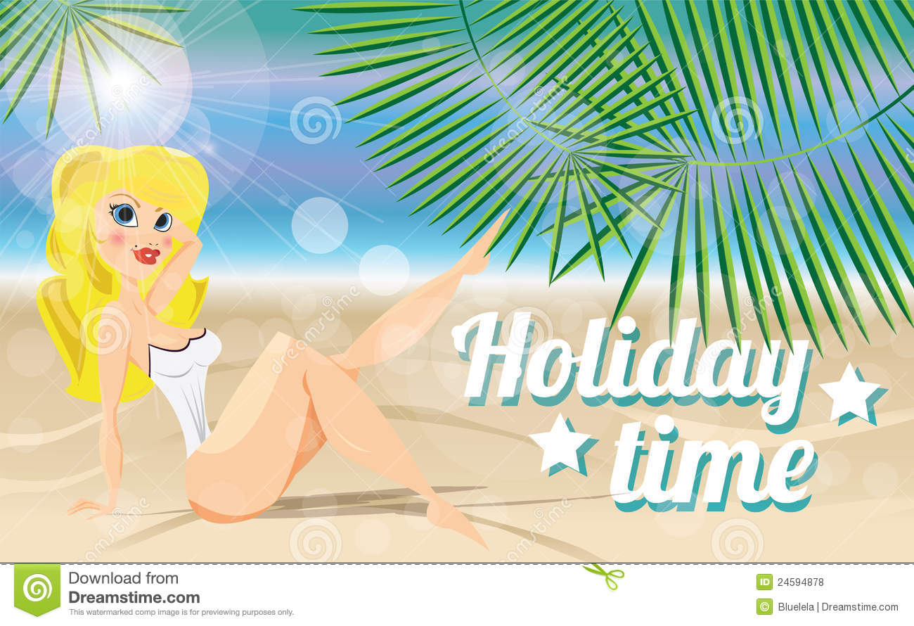 Summer Holiday Card Stock Vector Illustration Of Resort