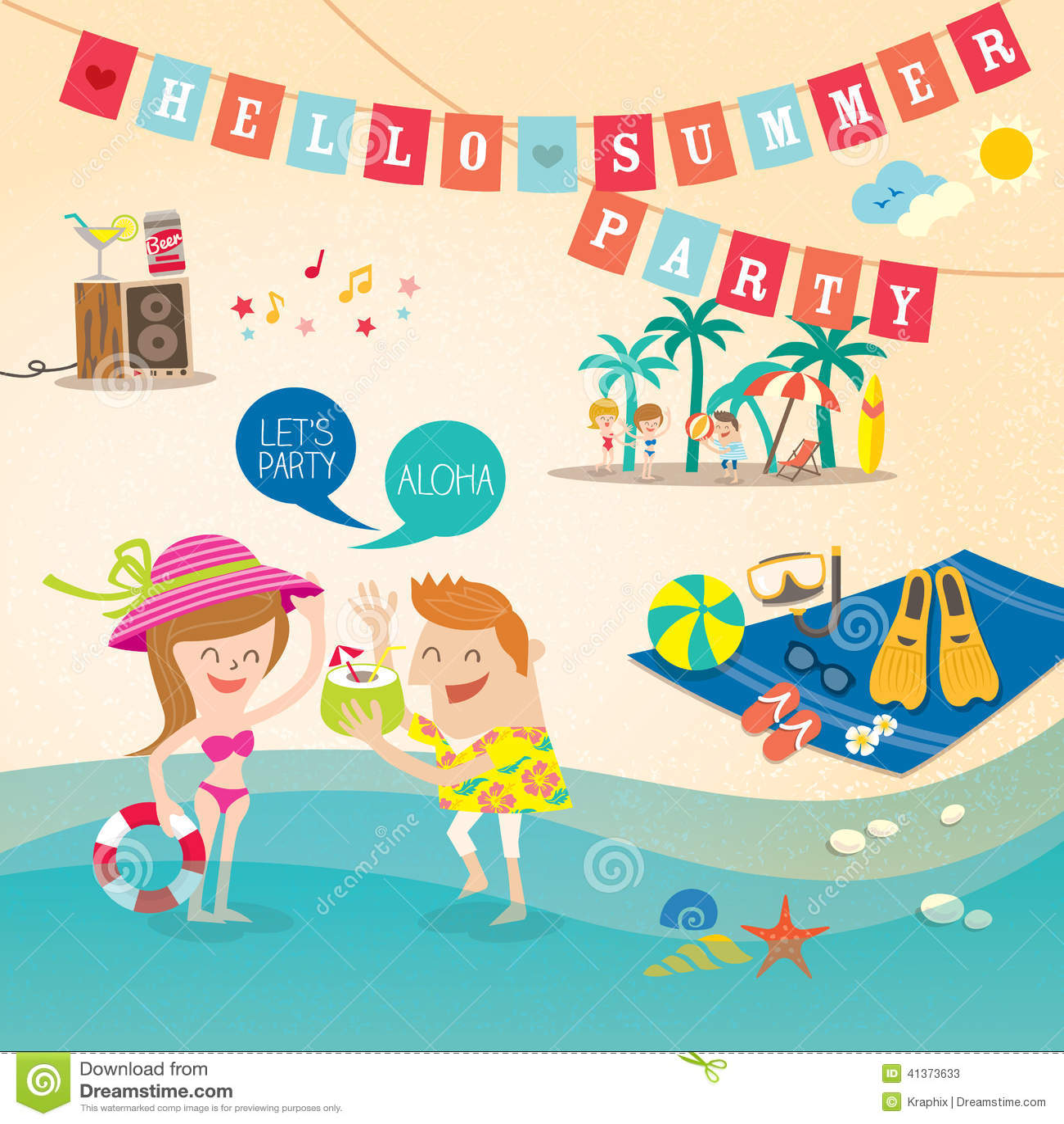 ... Holiday Cartoon Background Clip Art Stock Vector - Image: 41373633