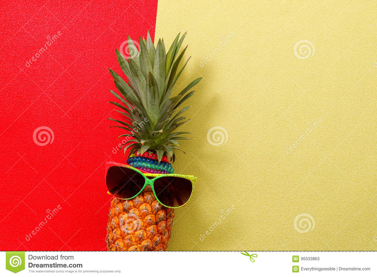 Summer and Holiday concept.Hipster Pineapple Fashion Accessories