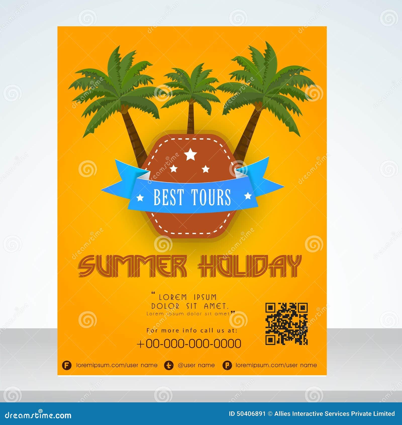 summer holiday flyer or banner design stock photo image  summer holiday flyer or banner design