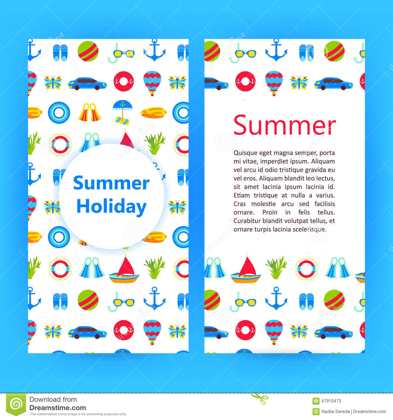 Summer Holiday Flyer Brochure Template Vector Image 67910473 – Vacation Brochure Template