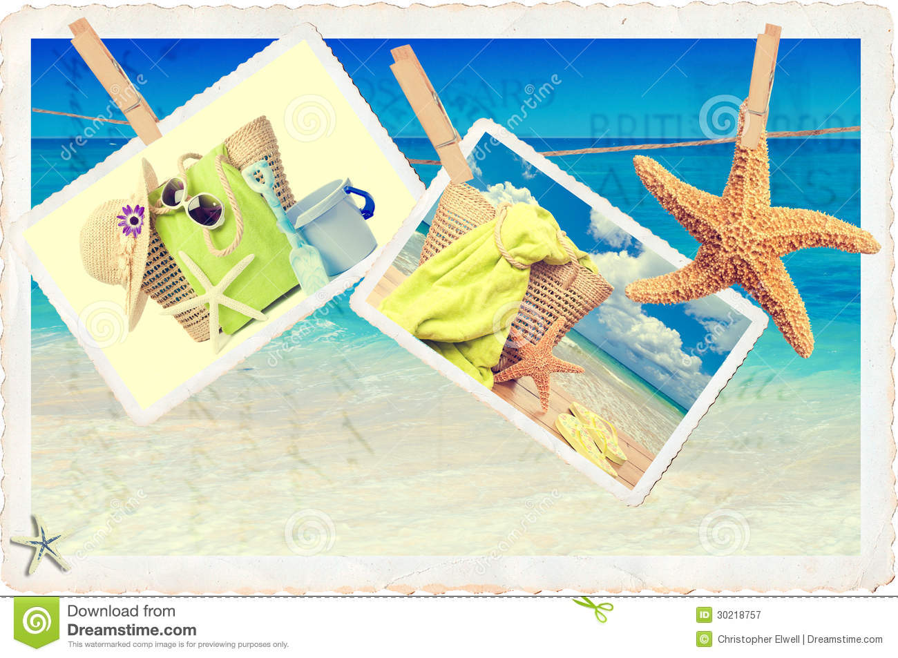 Summer travel card in retro style vintage vacation postcard with - Summer Postcards Royalty Free Stock Photography Image