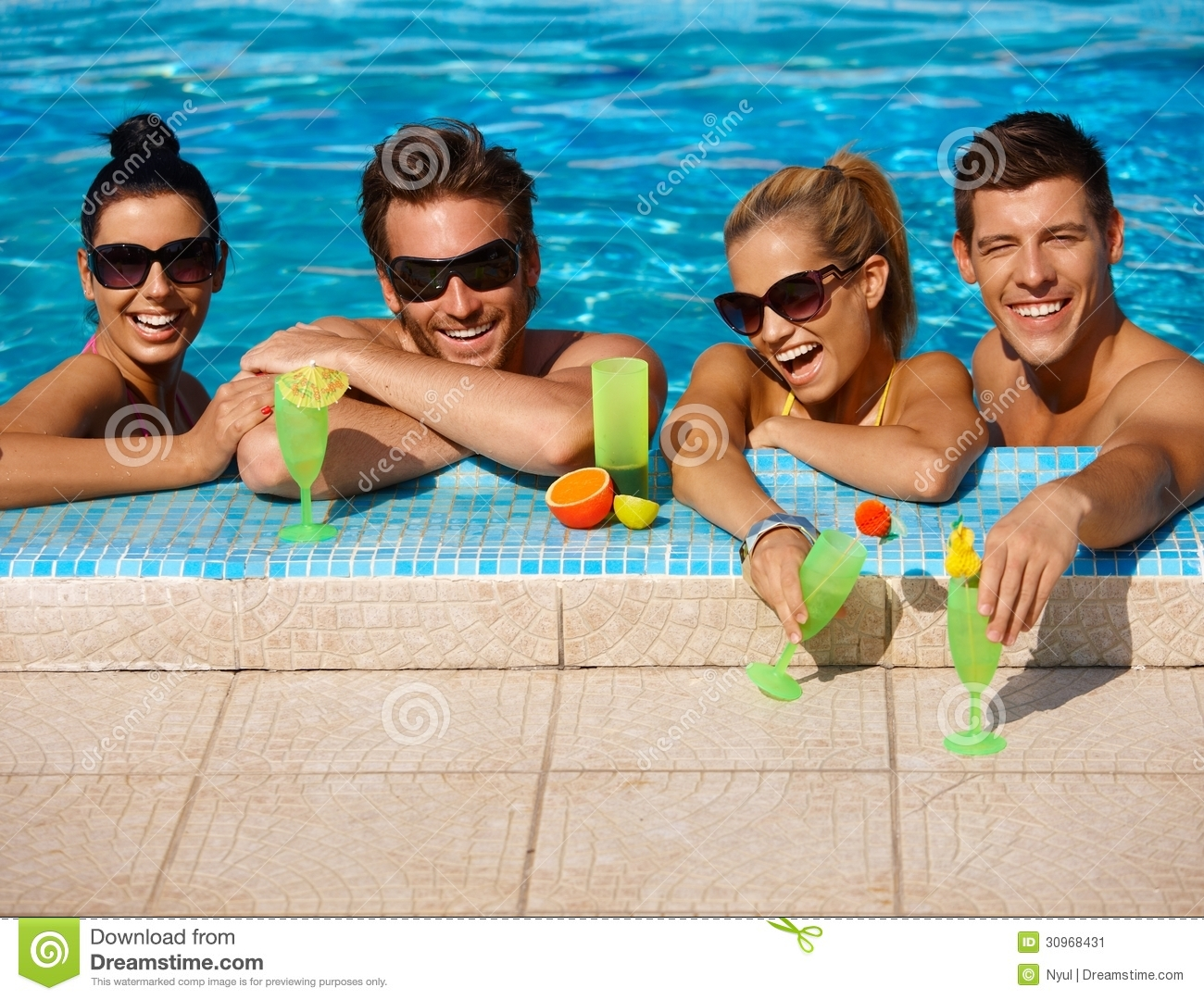 Summer Holiday In Swimming Pool Stock Image Image 30968431