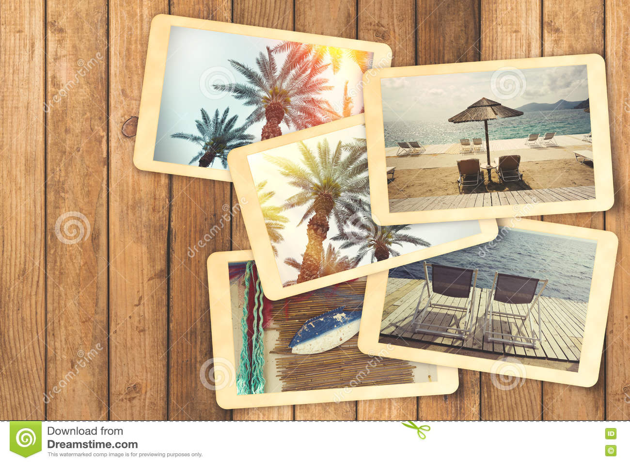 Bien connu Summer Holiday Vacation Photo Album With Retro Polaroid Instant  JO63