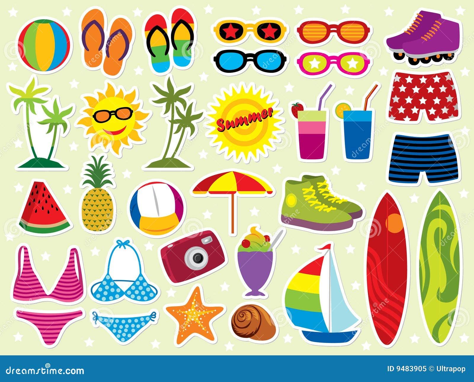 Summer holidays icon set. Please visit my portfolio for more summer