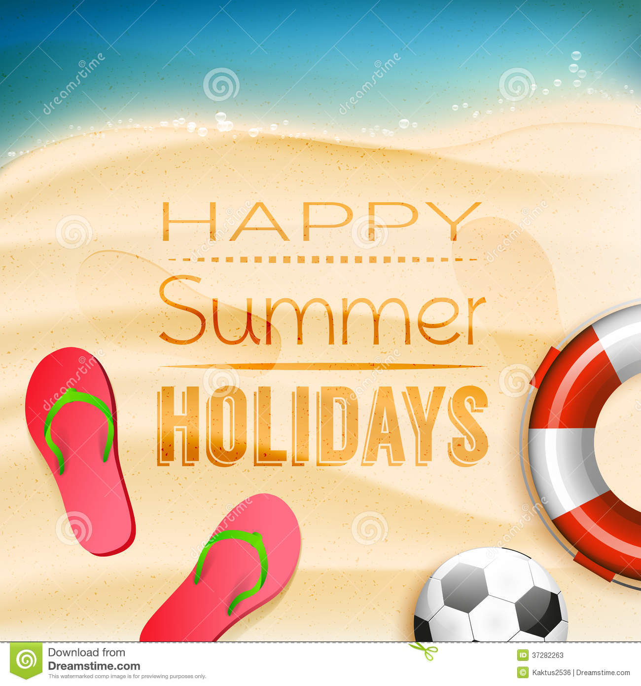 Summer Holidays Background Stock Photos - Image: 37282263