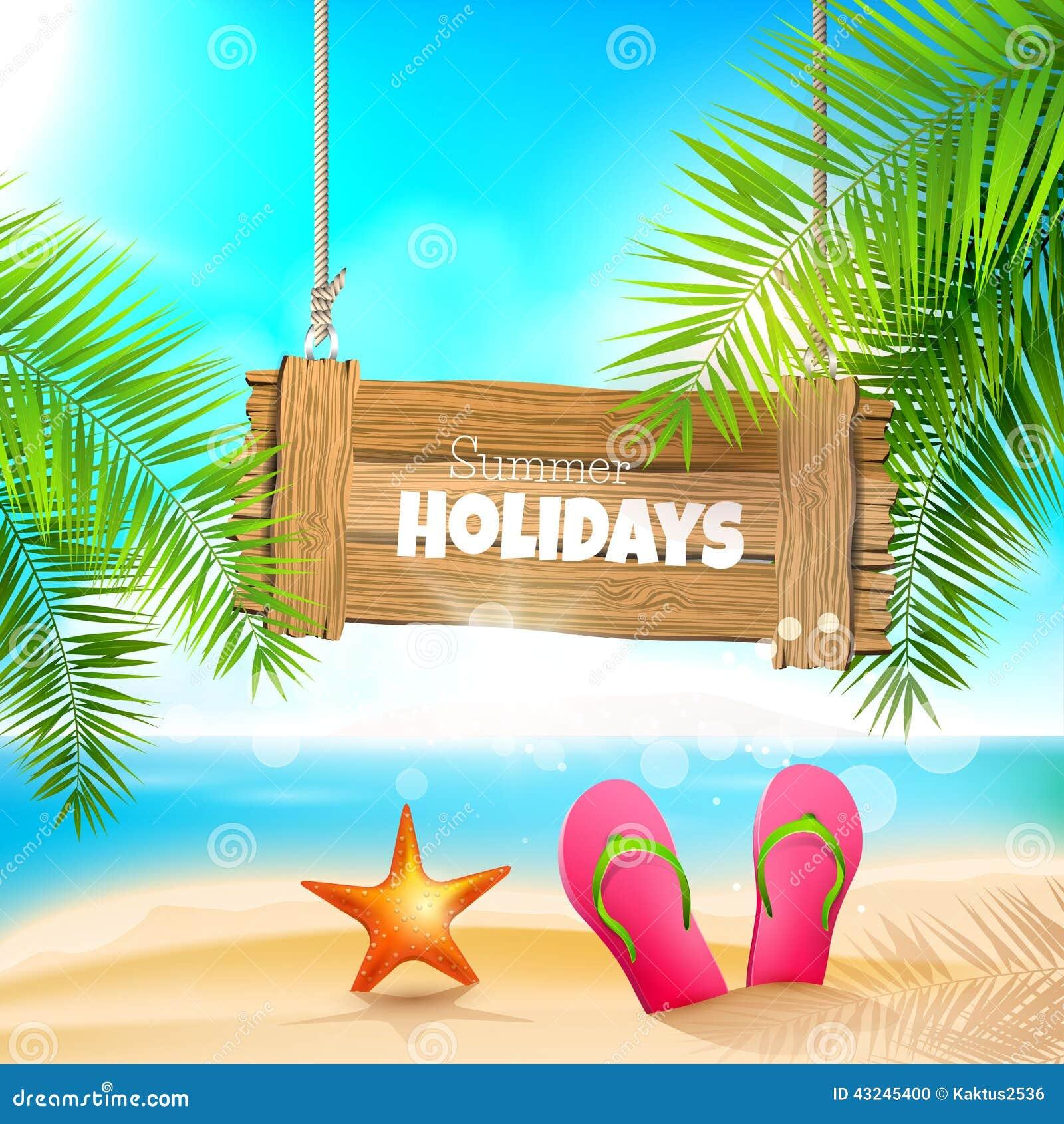 Summer Holidays Stock Vector Image 43245400