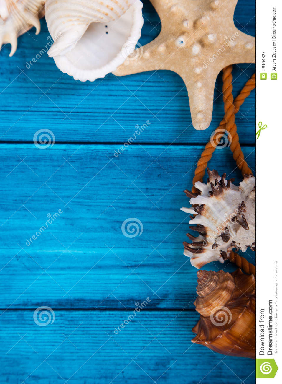 Summer holidays blue background with space for advertising and maritime theme