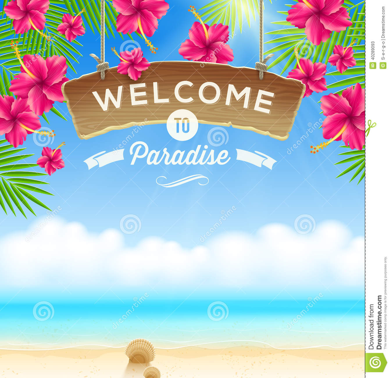 Holiday Home Design Ideas: Summer Holidays Design Stock Vector. Illustration Of Beach