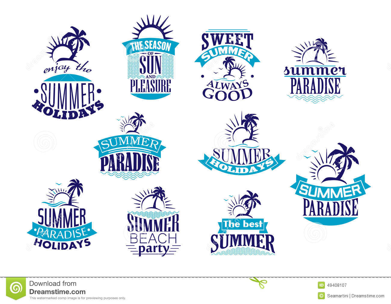 download summer holidays retro emblems and logo stock vector illustration of party journey