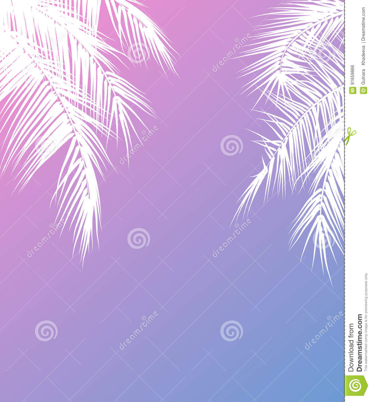 summer holidays vector illustration with palm trees vector stock