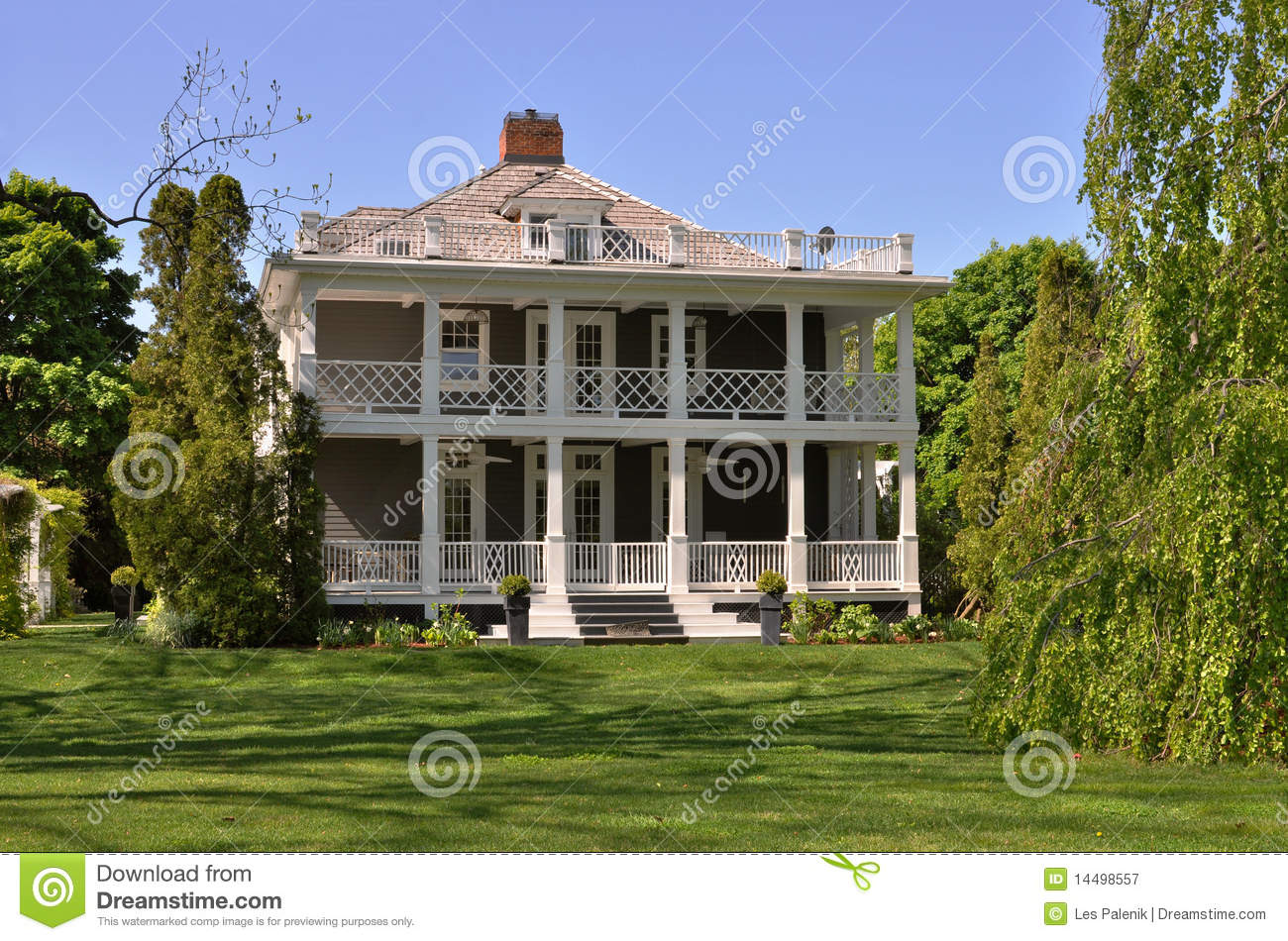 Summer house with balconies royalty free stock photography image 14498557 - Houses with covered balconies ...
