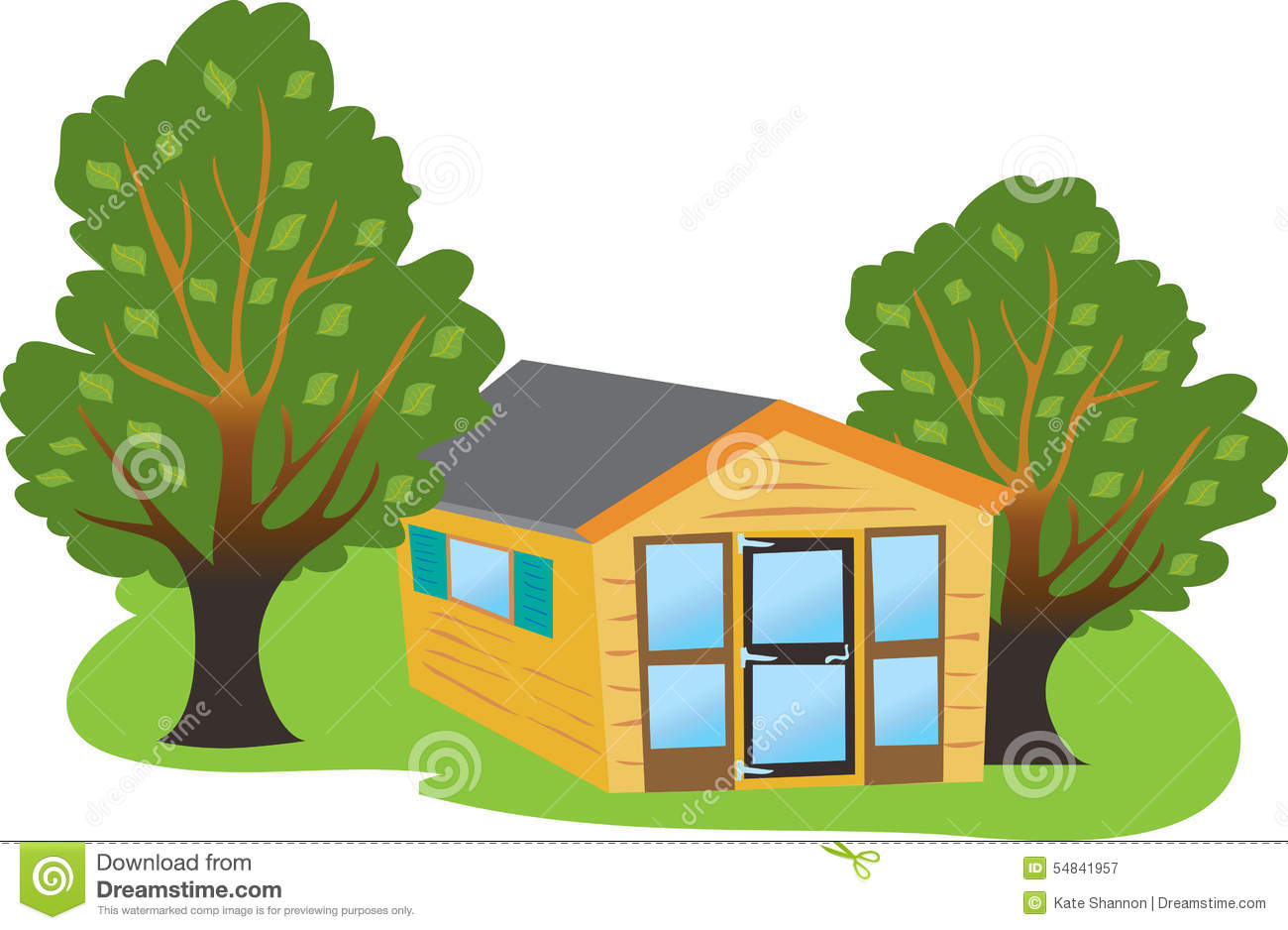 Summer house stock vector image of grass shelter relax 54841957 - Summer house plans delight relaxation ...
