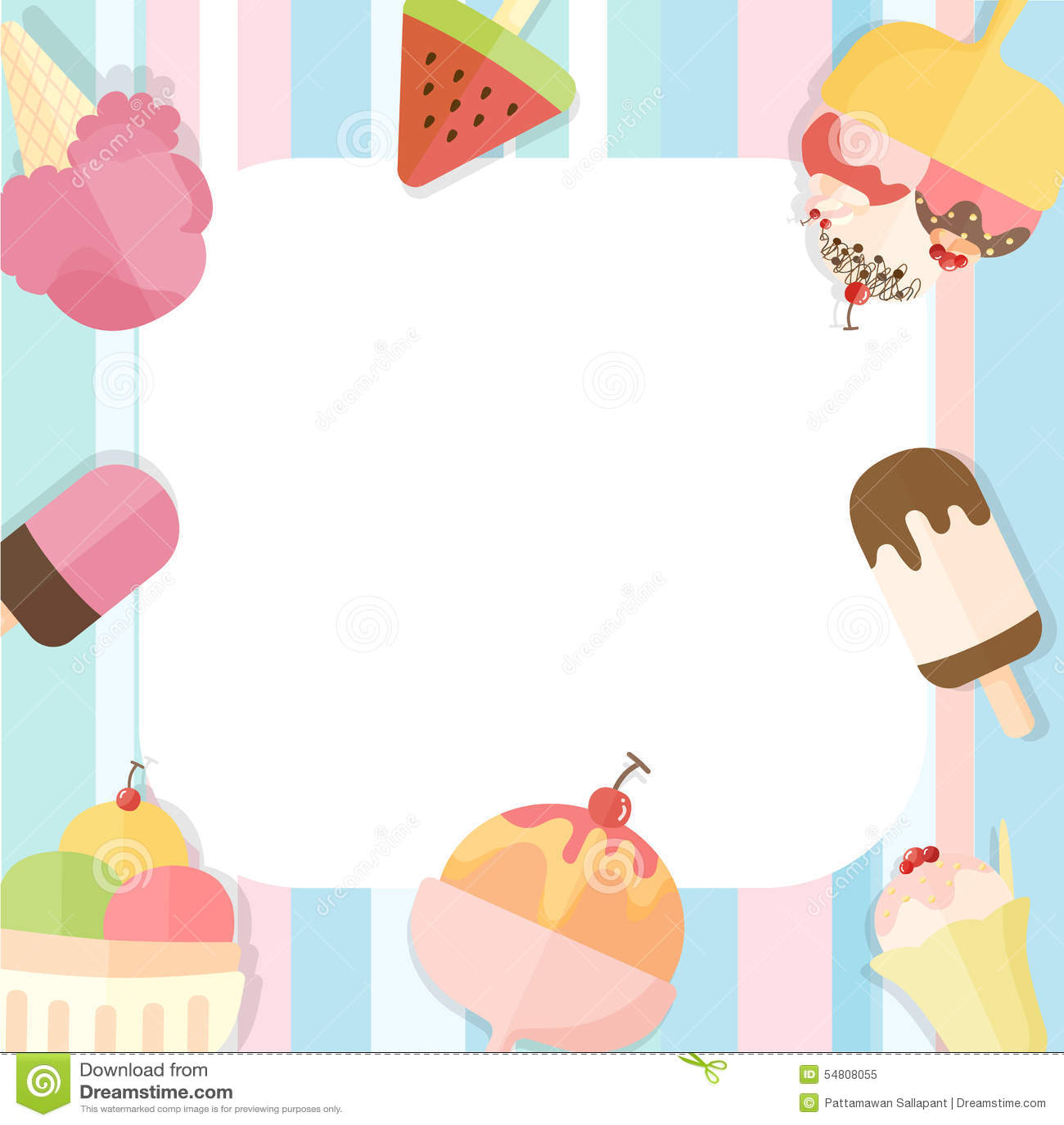 Summer Ice Cream Wallpaper: Summer Ice Cream Background Stock Vector