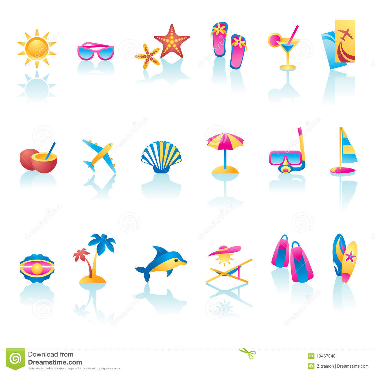 Summer Icon Set Royalty Free Stock s Image