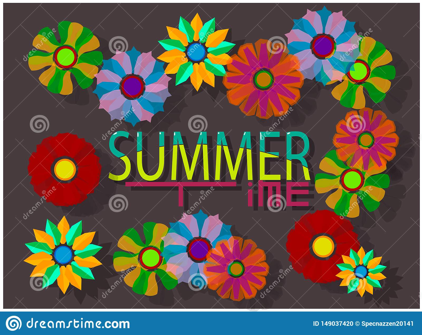 The summer image consists of the words `summer` and `time`.