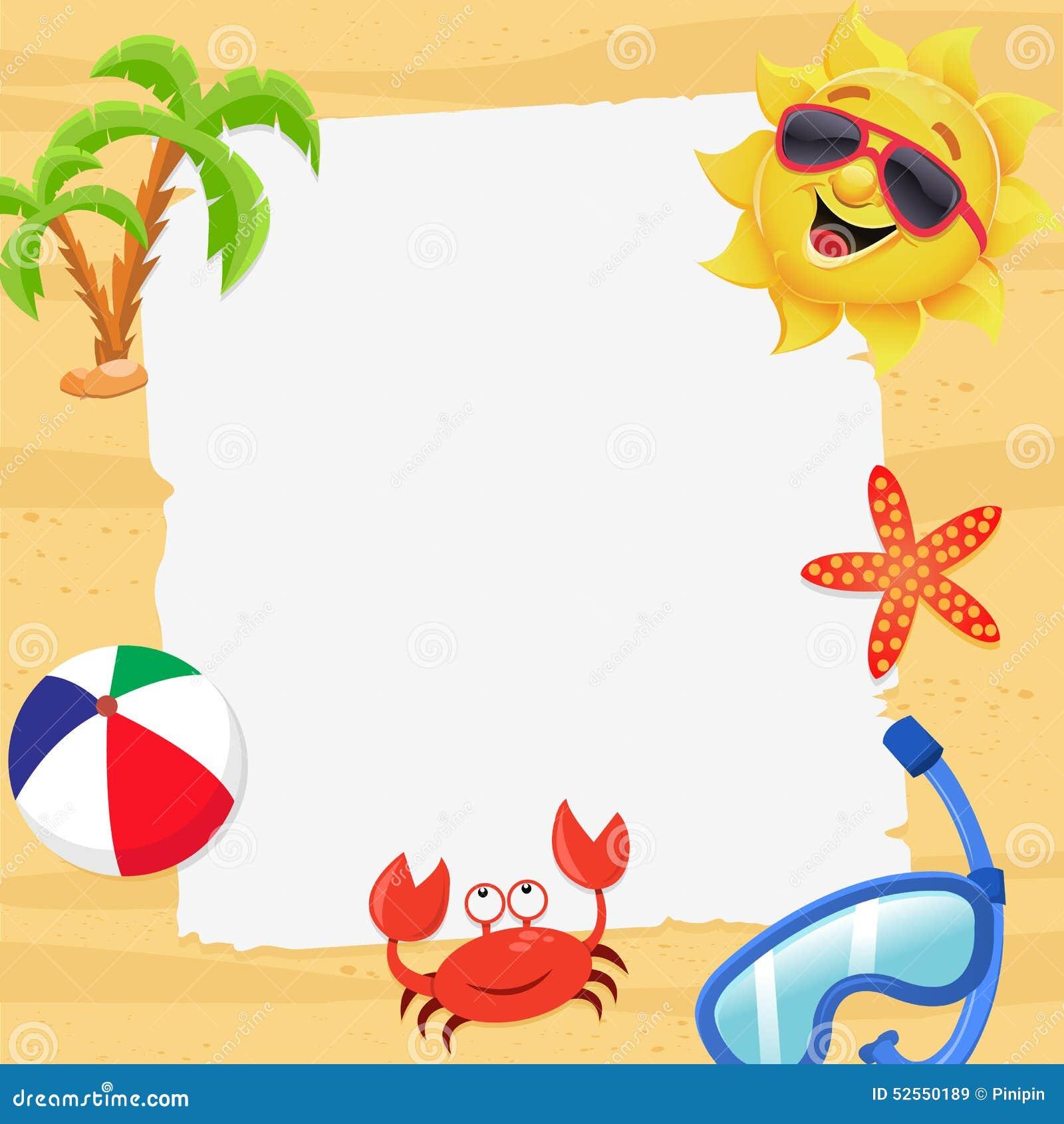 summer blank beach paper sea stock illustrations 432 summer blank