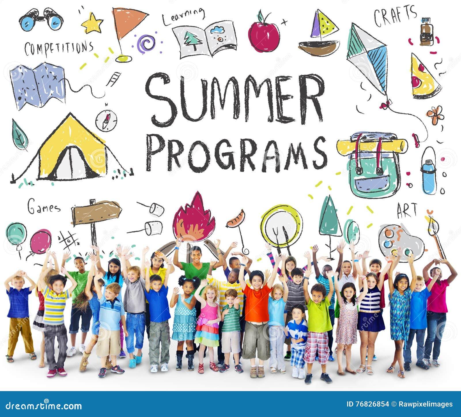 Summer Kids Camp Adventure Explore Concept Royalty-Free ...