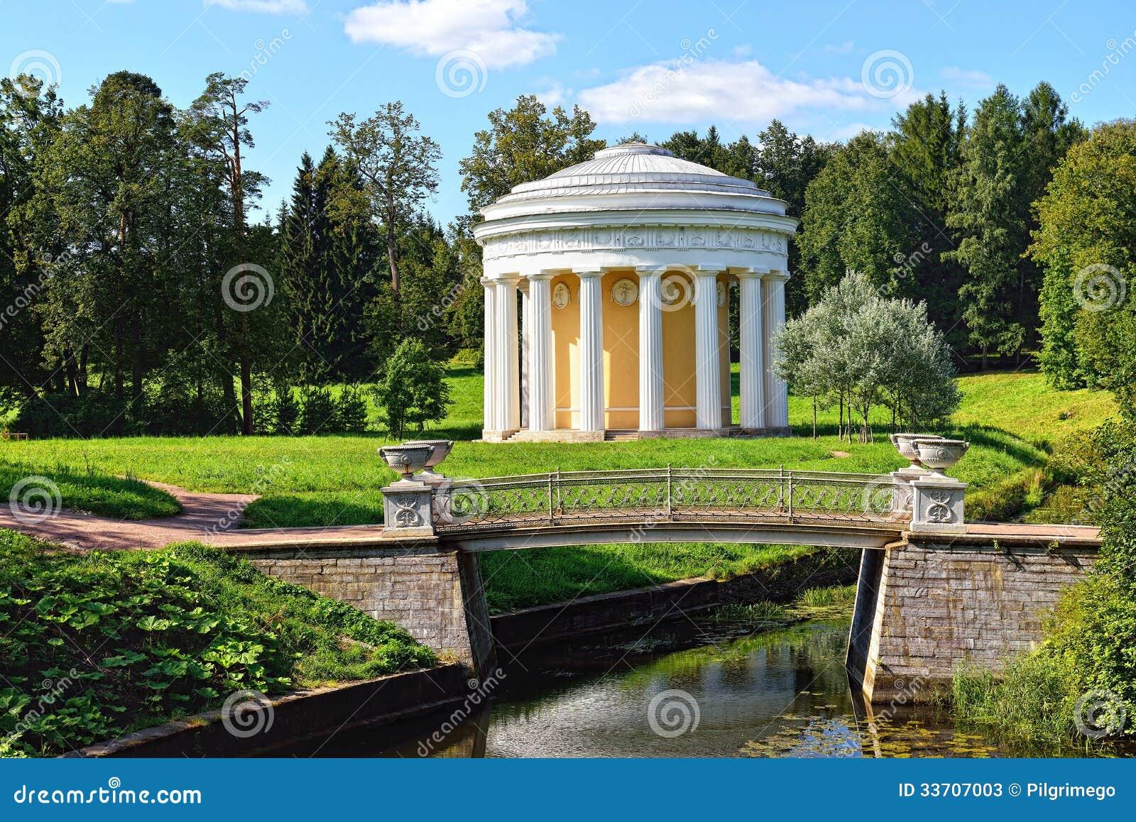 Summer Landscape Of The Pavlovsk Garden Temple Of
