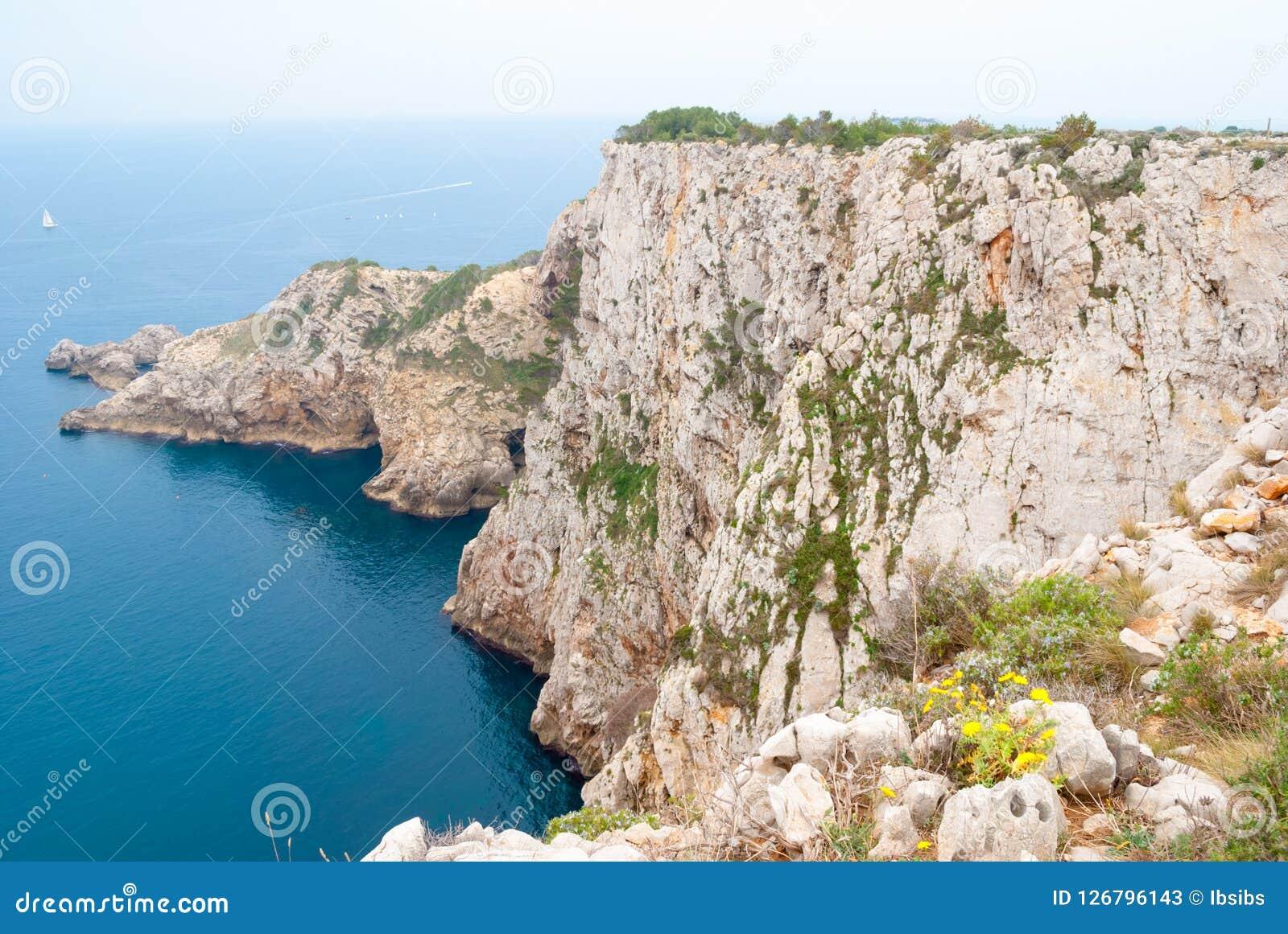 Breathtaking landscapes along Costa Brava in Catalonia Spain. Summer landscapes around Costa Brava, impressive cliffs and coastlines Stock Photos