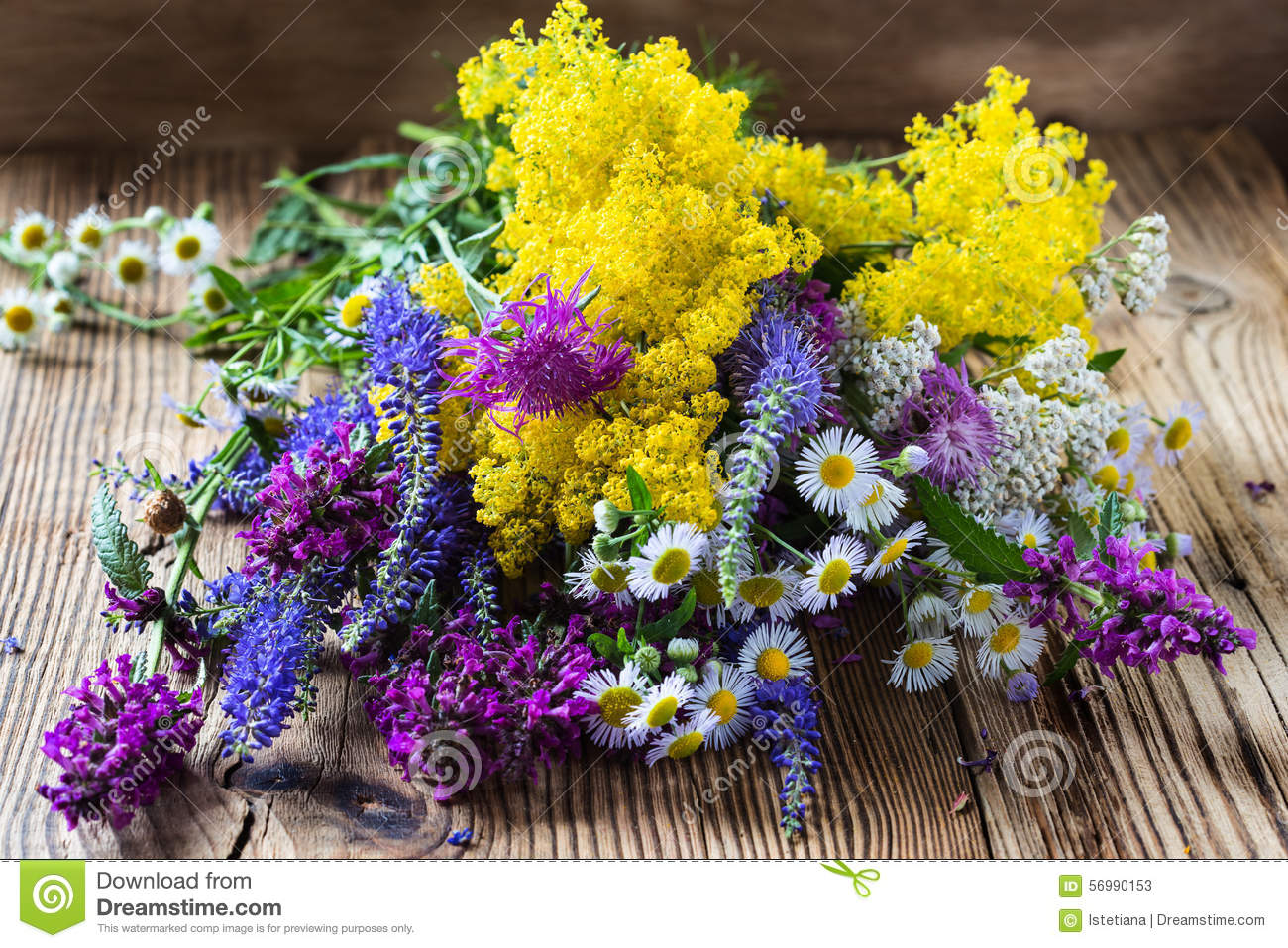 Summer Meadow Flowers Bouquet Stock Image - Image of fresh, green ...