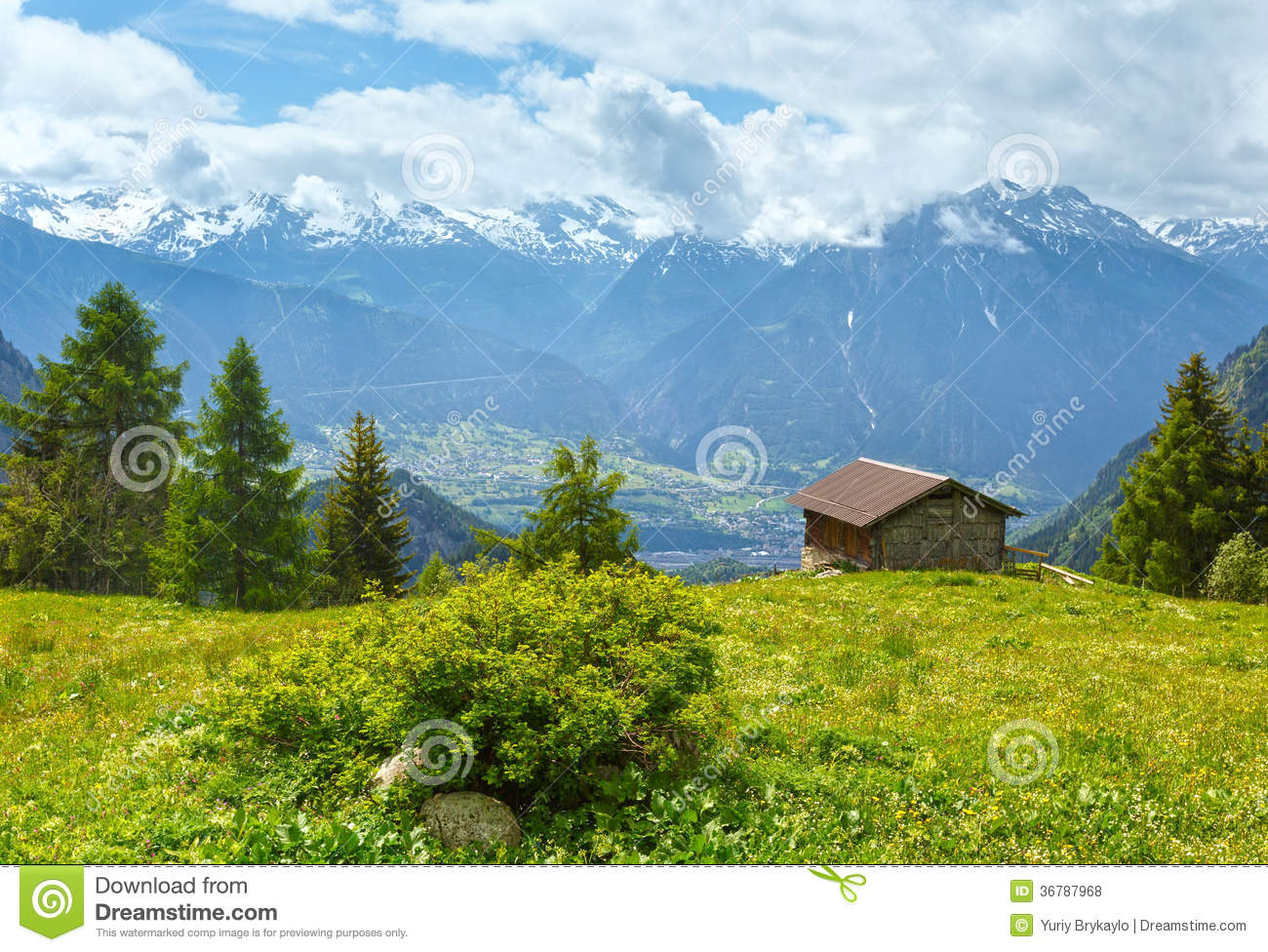Summer mountain landscape alps switzerland royalty free stock photos image 36787968 - Summer houses mountains ...