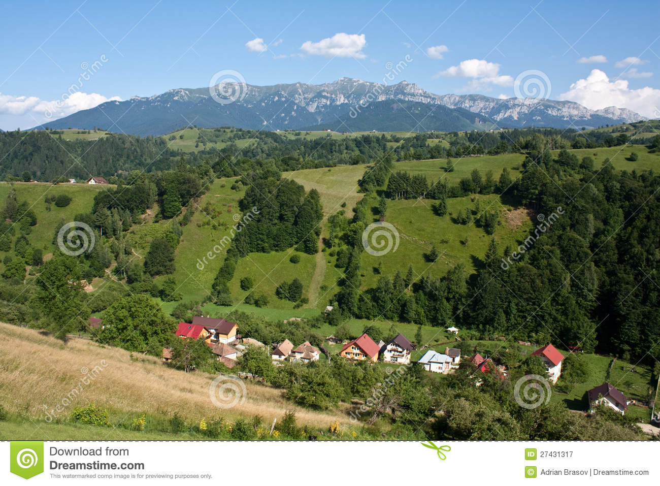 Summer in mountain village royalty free stock photography image 27431317 - Summer houses mountains ...